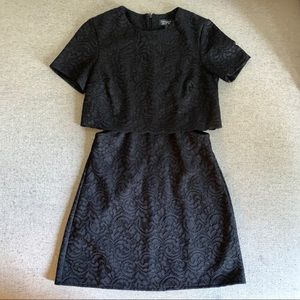 Topshop Lace Minidress with Cutouts